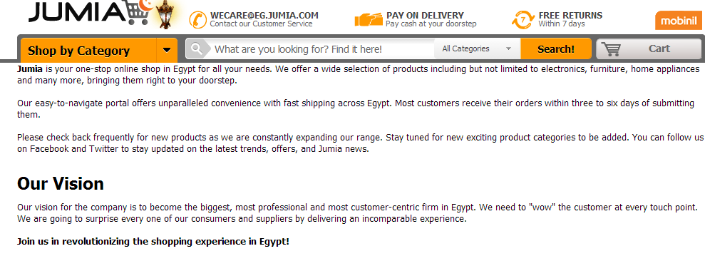 Jumia About Page