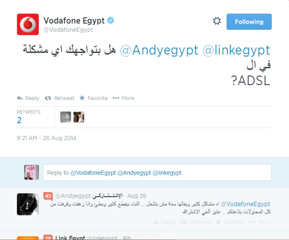 Vodafone Reaction on the customer's tweet