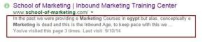 optimizing the description for seo