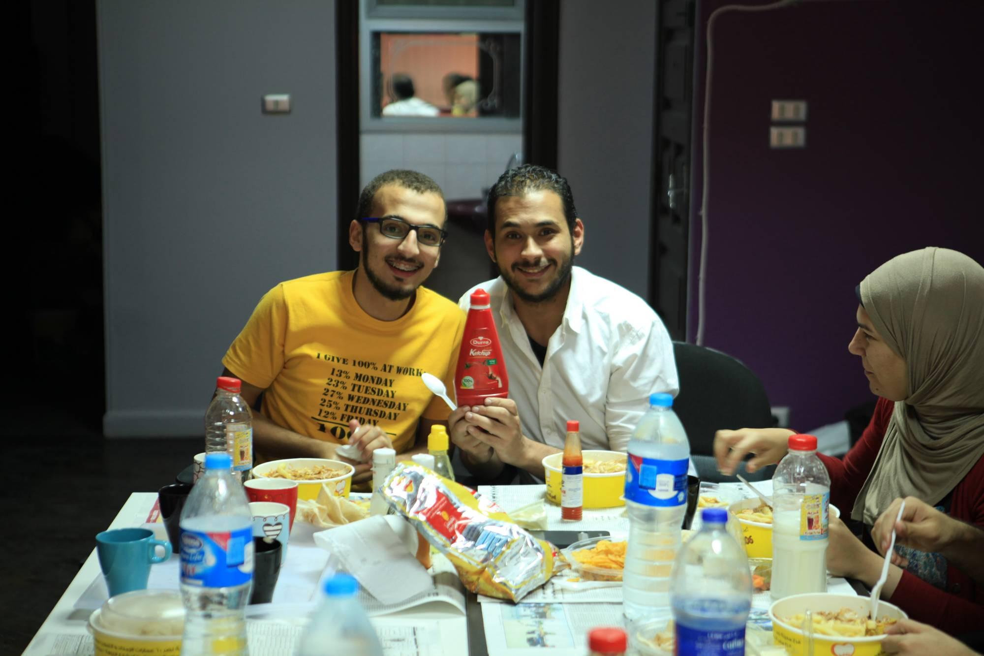 Shehab & Mostafa During Iftar